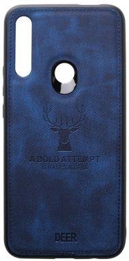 blue case chehol dark deer effect huawei leather nakladka pz shell smart toto with