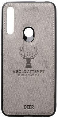 case chehol deer effect grey huawei leather nakladka pz shell smart toto with