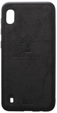 a10 black case chehol deer effect galaxy leather nakladka samsung shell toto with