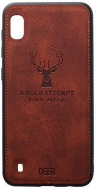 a10 brown case chehol deer effect galaxy leather nakladka samsung shell toto with