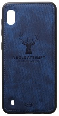 a10 blue case chehol dark deer effect galaxy leather nakladka samsung shell toto with