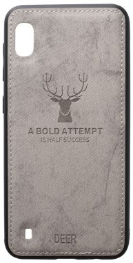 a10 case chehol deer effect galaxy grey leather nakladka samsung shell toto with