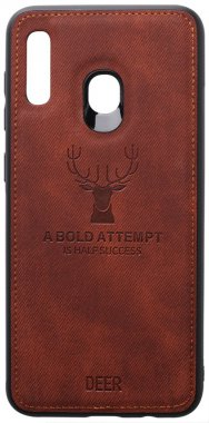 a20a30 brown case chehol deer effect galaxy leather nakladka samsung shell toto with