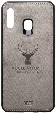 a20a30 case chehol deer effect galaxy grey leather nakladka samsung shell toto with