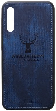 a40 blue case chehol dark deer effect galaxy leather nakladka samsung shell toto with