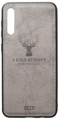 a40 case chehol deer effect galaxy grey leather nakladka samsung shell toto with
