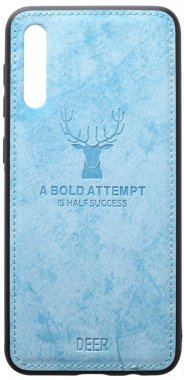 a50 blue case chehol deer effect galaxy leather nakladka samsung shell toto with
