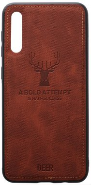 a50 brown case chehol deer effect galaxy leather nakladka samsung shell toto with