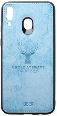 blue case chehol deer effect galaxy leather m20 nakladka samsung shell toto with