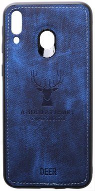 blue case chehol dark deer effect galaxy leather m20 nakladka samsung shell toto with