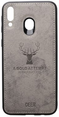case chehol deer effect galaxy grey leather m20 nakladka samsung shell toto with