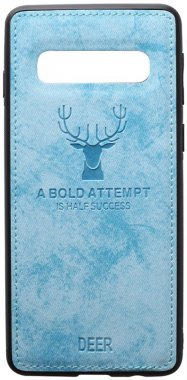 blue case chehol deer effect galaxy leather nakladka s10plus samsung shell toto with