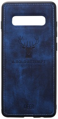 blue case chehol dark deer effect galaxy leather nakladka s10plus samsung shell toto with