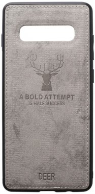 case chehol deer effect galaxy grey leather nakladka s10plus samsung shell toto with