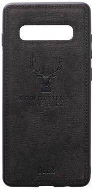 black case chehol deer effect galaxy leather nakladka s10e samsung shell toto with