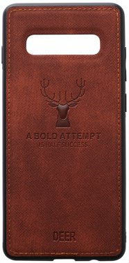 brown case chehol deer effect galaxy leather nakladka s10e samsung shell toto with