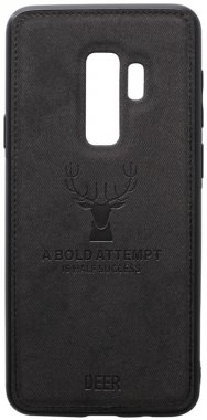 black case chehol deer effect galaxy leather nakladka s9plus samsung shell toto with