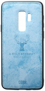 blue case chehol deer effect galaxy leather nakladka s9plus samsung shell toto with