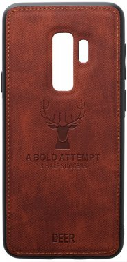 brown case chehol deer effect galaxy leather nakladka s9plus samsung shell toto with