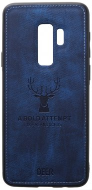 blue case chehol dark deer effect galaxy leather nakladka s9plus samsung shell toto with
