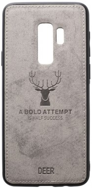 case chehol deer effect galaxy grey leather nakladka s9plus samsung shell toto with