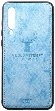 blue case chehol deer effect leather mi9 nakladka shell toto with xiaomi