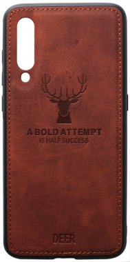 brown case chehol deer effect leather mi9 nakladka shell toto with xiaomi