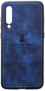 blue case chehol dark deer effect leather mi9 nakladka shell toto with xiaomi