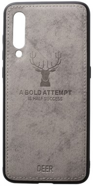 case chehol deer effect grey leather mi9 nakladka shell toto with xiaomi