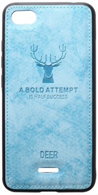 6a blue case chehol deer effect leather nakladka redmi shell toto with xiaomi
