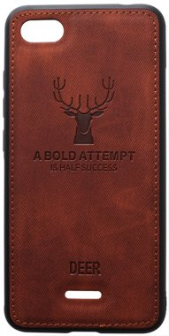 6a brown case chehol deer effect leather nakladka redmi shell toto with xiaomi