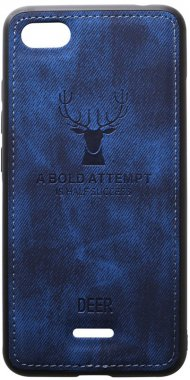 6a blue case chehol dark deer effect leather nakladka redmi shell toto with xiaomi
