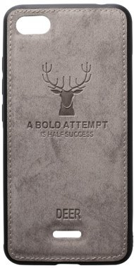 6a case chehol deer effect grey leather nakladka redmi shell toto with xiaomi