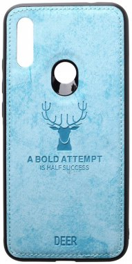 7 blue case chehol deer effect leather nakladka redmi shell toto with xiaomi