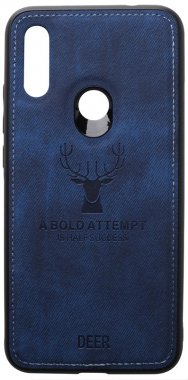 7 blue case chehol dark deer effect leather nakladka redmi shell toto with xiaomi