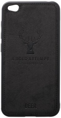 black case chehol deer effect go leather nakladka redmi shell toto with xiaomi