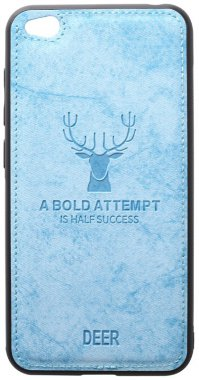 blue case chehol deer effect go leather nakladka redmi shell toto with xiaomi