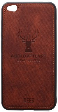 brown case chehol deer effect go leather nakladka redmi shell toto with xiaomi