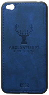 blue case chehol dark deer effect go leather nakladka redmi shell toto with xiaomi