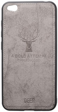 case chehol deer effect go grey leather nakladka redmi shell toto with xiaomi