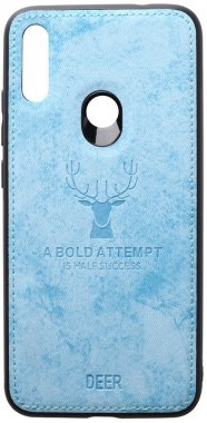 7 blue case chehol deer effect leather nakladka note redmi shell toto with xiaomi