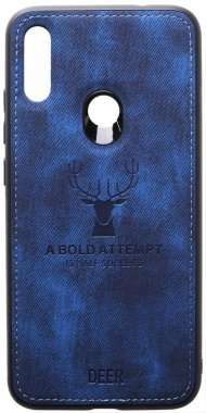 7 blue case chehol dark deer effect leather nakladka note redmi shell toto with xiaomi