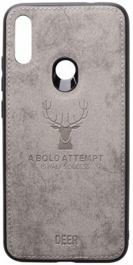 7 case chehol deer effect grey leather nakladka note redmi shell toto with xiaomi