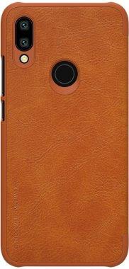 brown case chehol knizhka leather nillkin qin7y3 redmi xiaomi