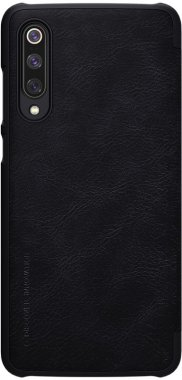 black case chehol knizhka leather nillkin qinmi9 xiaomi