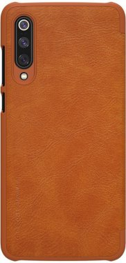 brown case chehol knizhka leather nillkin qinmi9 xiaomi