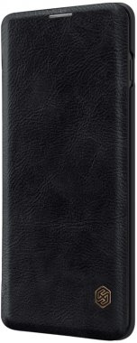 black case chehol galaxy knizhka leather nillkin qins10 samsung