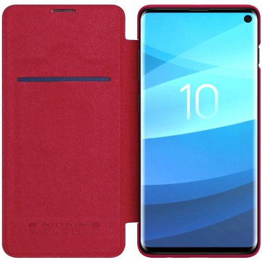 case chehol galaxy knizhka leather nillkin qins10red samsung