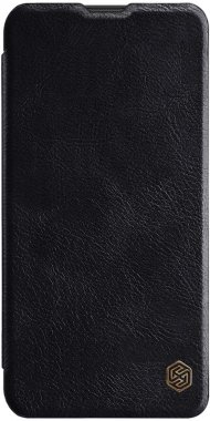 black case chehol galaxy knizhka leather nillkin qinm10 samsung