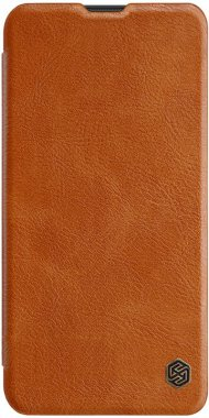 brown case chehol galaxy knizhka leather nillkin qinm10 samsung